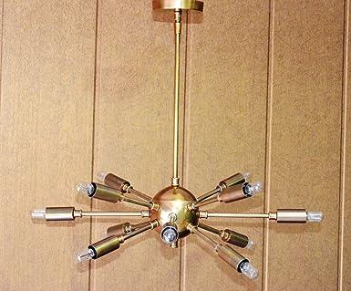 Kronleuchter Antik Xl ~ Messing antik mid century atomic sputnik kronleuchter starburst