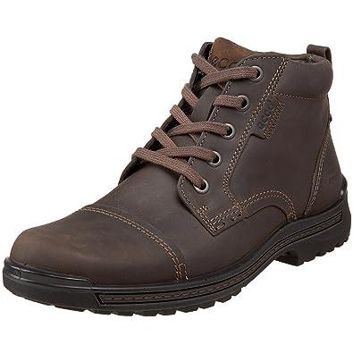 ECCO Men's Iron Cap Toe Boot,Dark Clay/Dark Clay,40 EU (