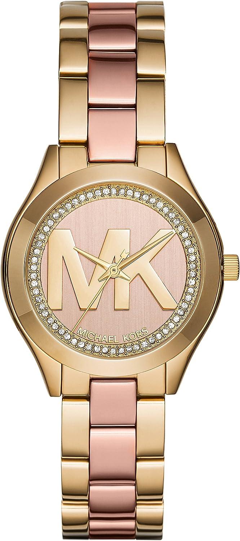 Michael Kors Reloj Analógico para Mujer de Cuarzo con Correa en Acero Inoxidable MK3650