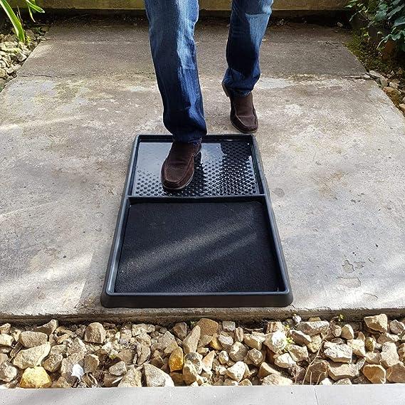 para limpieza de zapatos multifuncional absorci/ón de agua y eliminaci/ón de polvo oficina gris oscuro para casa TTLIFE para desinfecci/ón Alfombrilla desinfectante para el suelo escuela