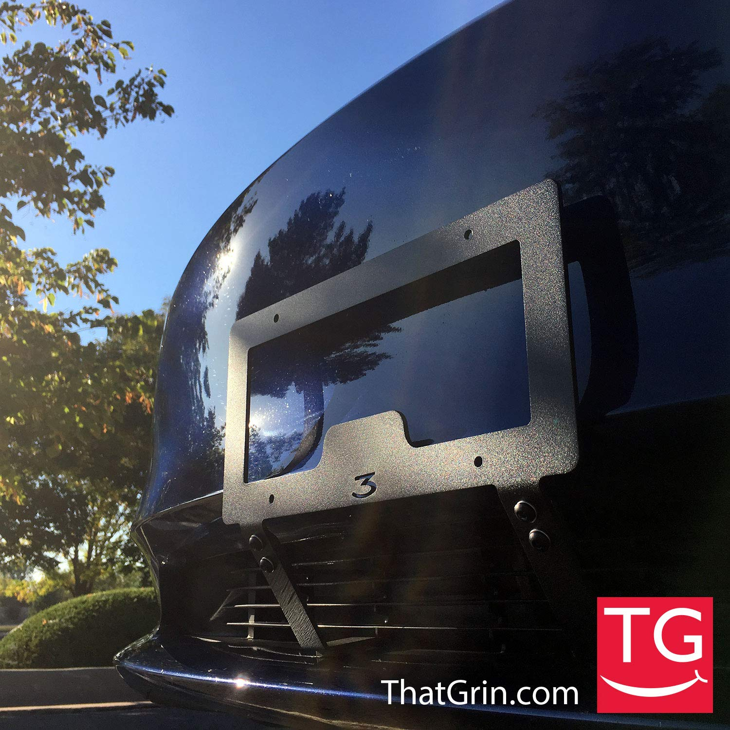 ThatGrin LLC Genuine Slipstream Bracket for Tesla Model 3 - USA Made Version (Patent Pending) - NO Drilling, NO Holes, NO Adhesives Front License Plate Mounting Holder by TheTes Grin LLC (Image #8)