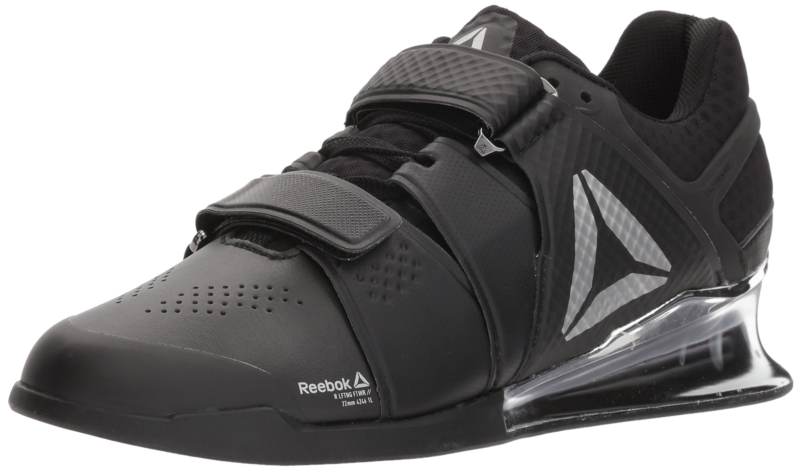 Reebok Women's Legacy Lifter Sneaker, Black/White/Silver, 9.5 M US