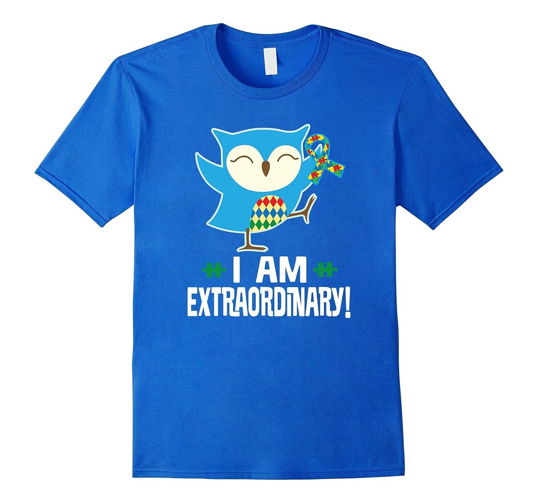 Autism Awareness Autistic Spectrum Disorder Owl T-shirt-AZP
