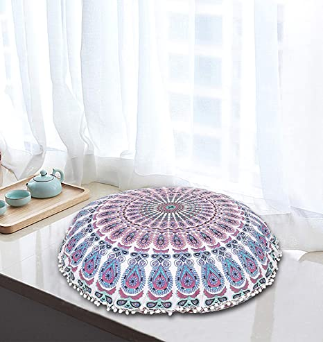 WORLD WIDE KART - Cojín de Suelo de Mandala de 81 cm, Hecho ...