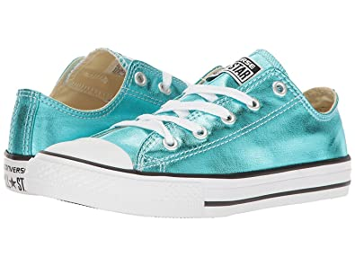 Converse Kids Chuck Taylor All Star Ox Metallic Shoes - Cyan/Black/White -
