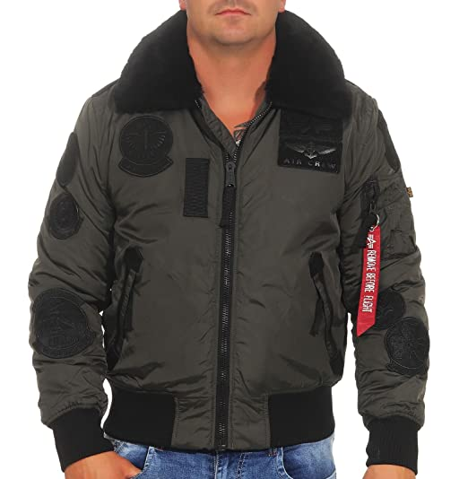 Alpha Industries Hombre Bomber Chaquetas Injector III Patch ...
