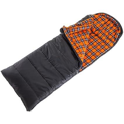 skandika Schlafsack Greenland (RV Rechts) - Saco de dormir momia para acampada, color