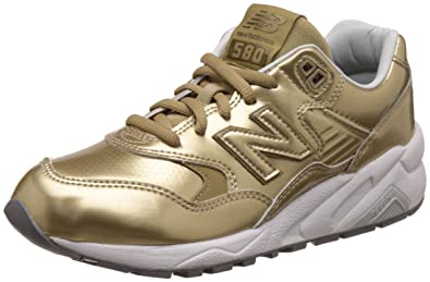 separation shoes a5899 387ed Amazon.com | New Balance Women 580 WRT580MG (Gold/White ...