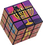 Chanukah Magic Cube - Medium Rubik's Cube Style Game with Hanukah Pictures and Designs - Chanuka Toys by Izzy 'n' Dizzy