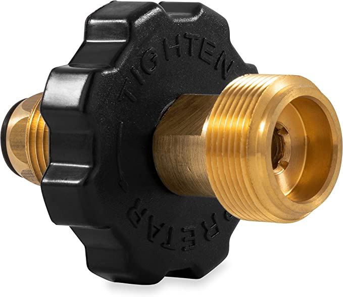 """Propane Cylinder Connector POL x 1//4/"""" BSPT Male"""