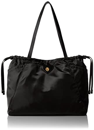 795a5028b7c Amazon.com: Anne Klein Wander MED ALY Nylon Tote black/black navy ...