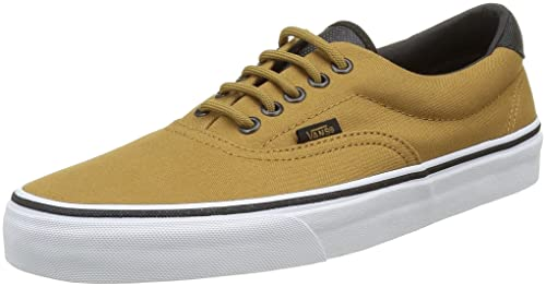 ce51514330 Vans Unisex Era 59 (Canvas and Military) Bistre and White Sneakers - 10 UK
