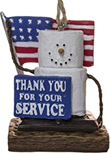 S'Mores Thank You Armed Service Military Christmas/ Everyday Ornament