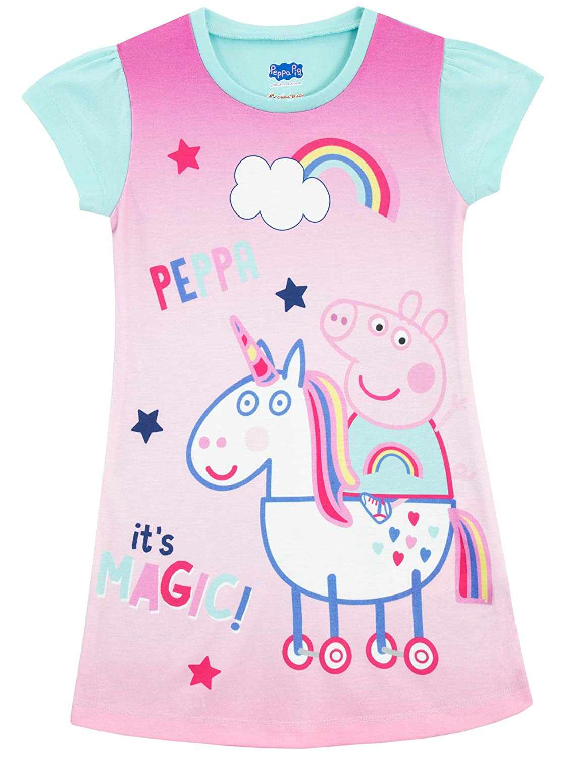 Peppa Pig Girls Unicorn Nightdress