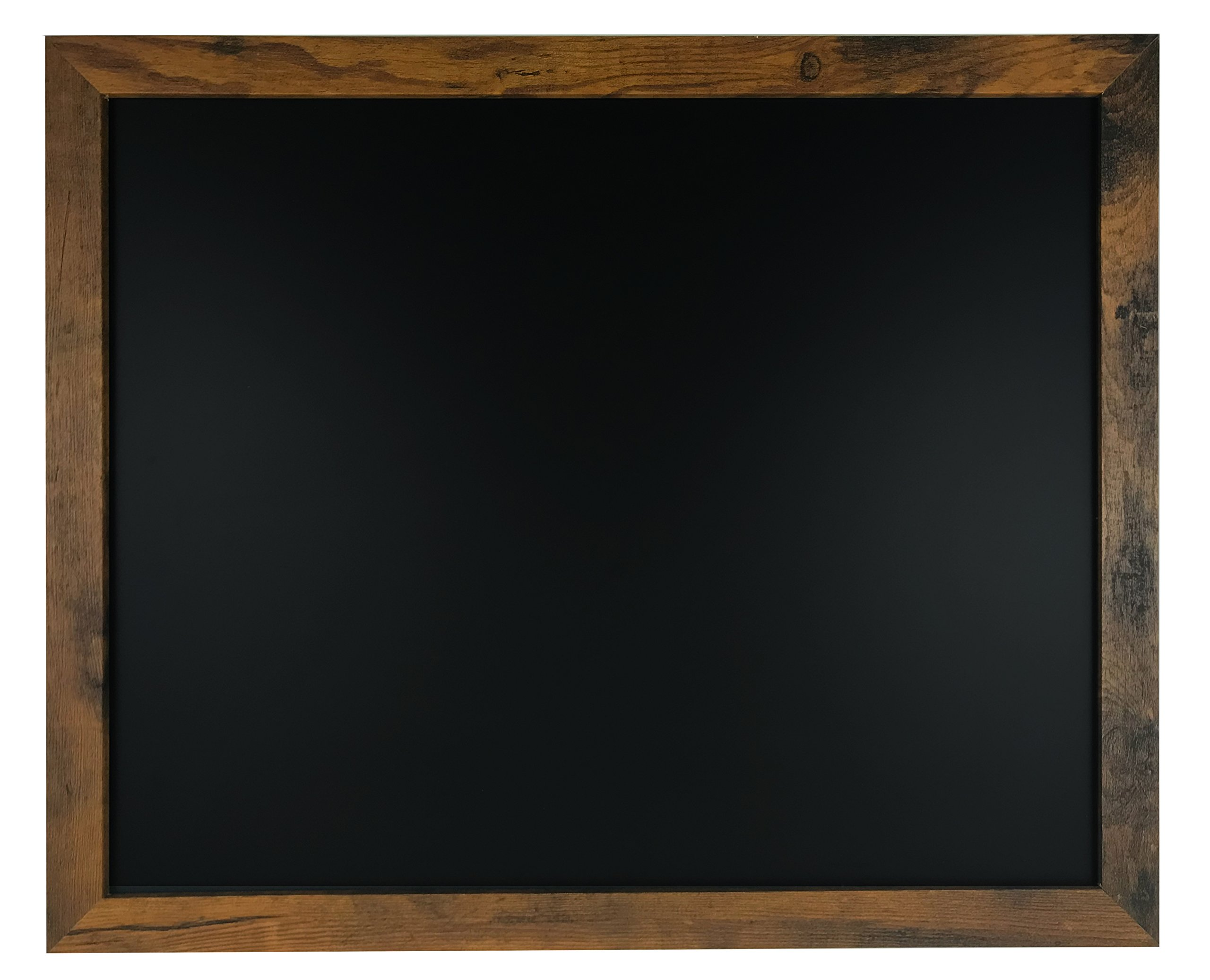 Rustic Wood Premium Surface Magnetic Chalk Board- 18''x22'' Perfect for Chalk Markers and Home Decor