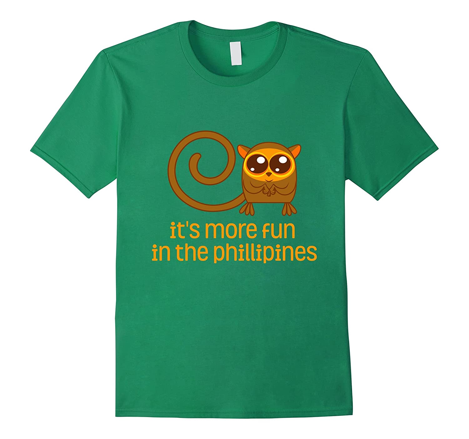Tarsier It's More Fun In The Philippines Cool Animal T-Shirt-FL