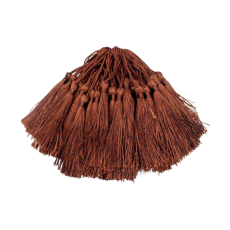 100 pz Craft nappa, Ulable Handmade Silky nappe per segnalibri, creazione di gioielli, souvenir, cappelli di laurea, bricolage Aubergine