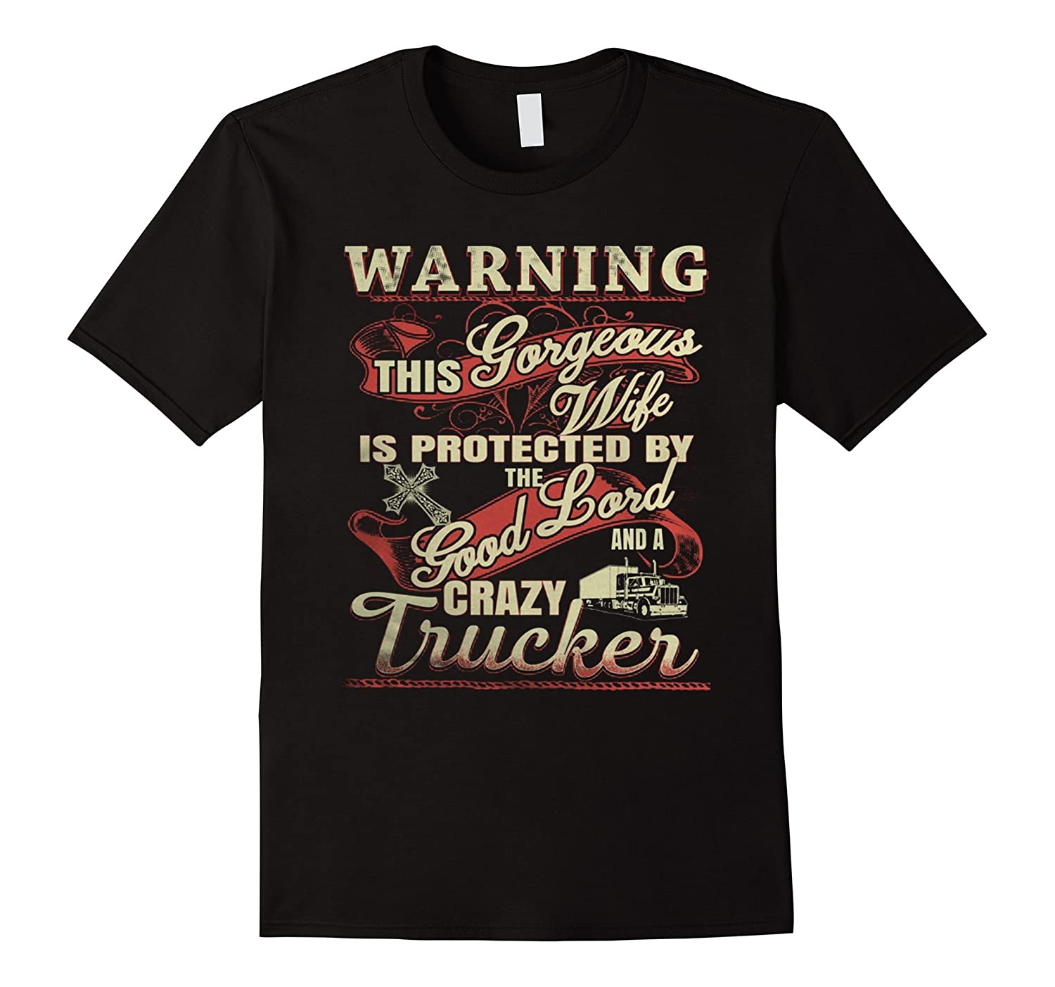 Warning im Truckers wife – Protected by Crazy truck driver-PL ... de724d1230ce