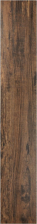 "Achim Home Furnishings VFP2.0MH10 Tivoli II Peel 'N' Stick Vinyl Floor Planks (10 Pack), Mahogany, 6"" x 36"""