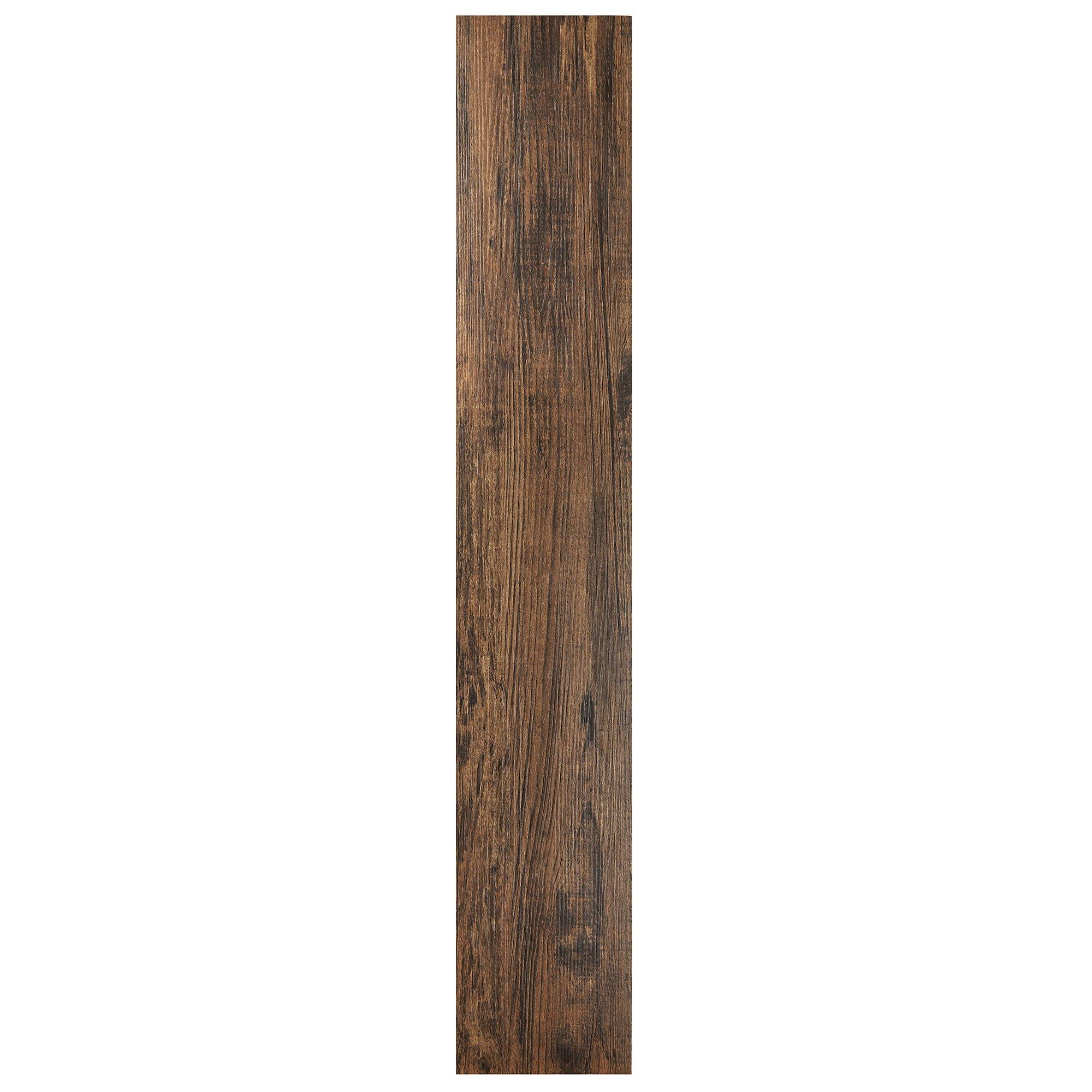 Achim Home Furnishings VFP2.0MH10 Tivoli II Peel 'N' Stick Vinyl Floor Planks (10 Pack), Mahogany, 6'' x 36''