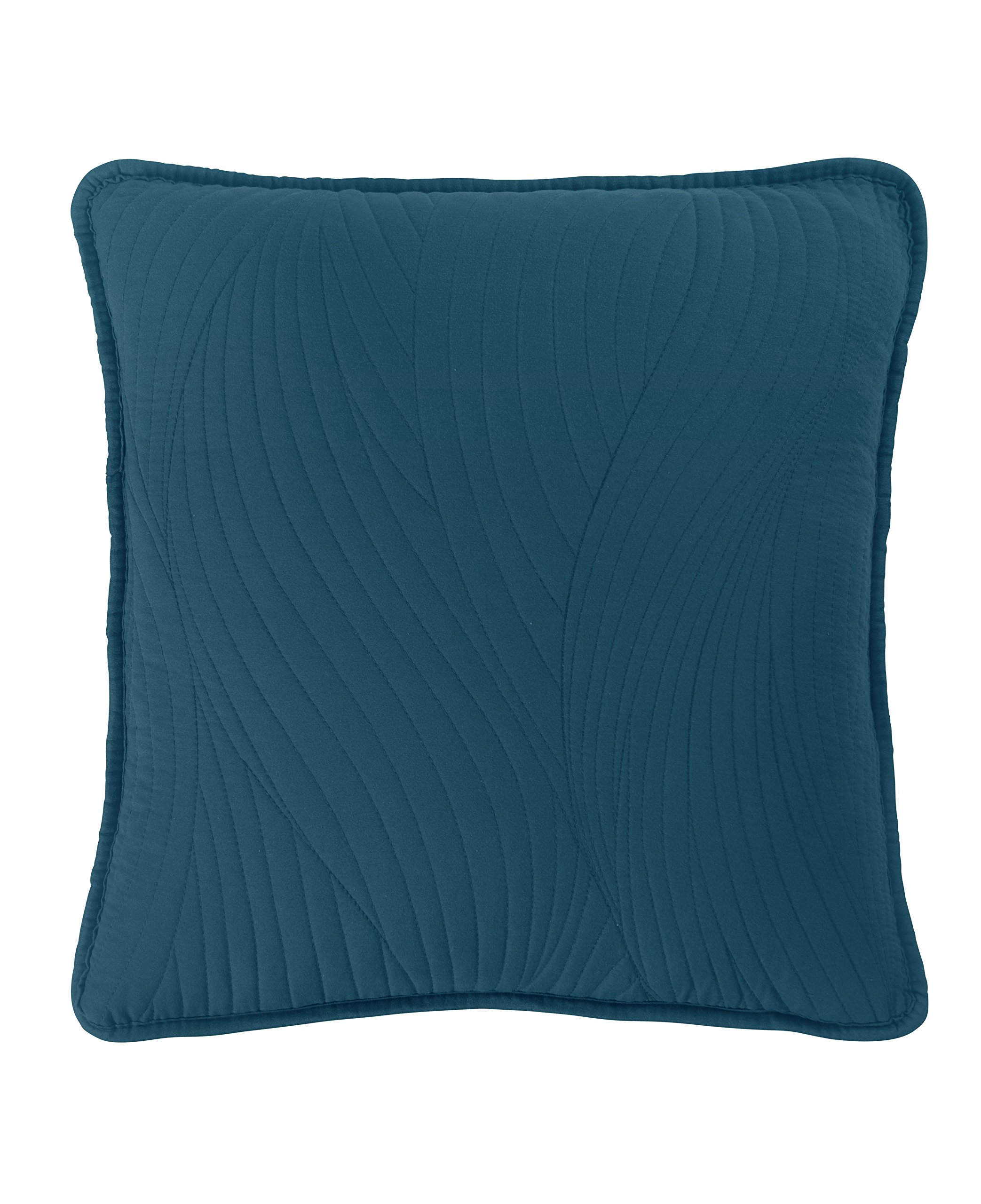 "Brielle Stream Toss Pillow, Square 16"" x 16"", Teal - 1 toss pillow with removable cover Toss pillow measures 16 inches wide, 16 inches tall Coordinates with other Brielle stream products - living-room-soft-furnishings, living-room, decorative-pillows - 81NMUMnElRL -"