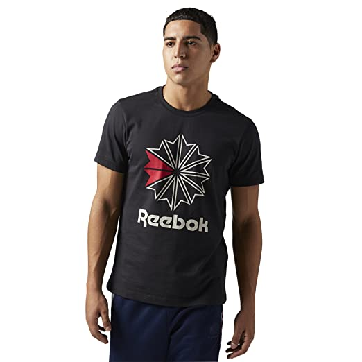 fd730366d68e Amazon.com  Reebok Classic Men s Foundation Graphic Tee  Clothing