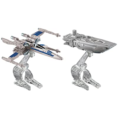 Hot Wheels Star Wars: The Force Awakens First Order Transporter vs. X-Wing Fighter Starship 2-Pack: Toys & Games