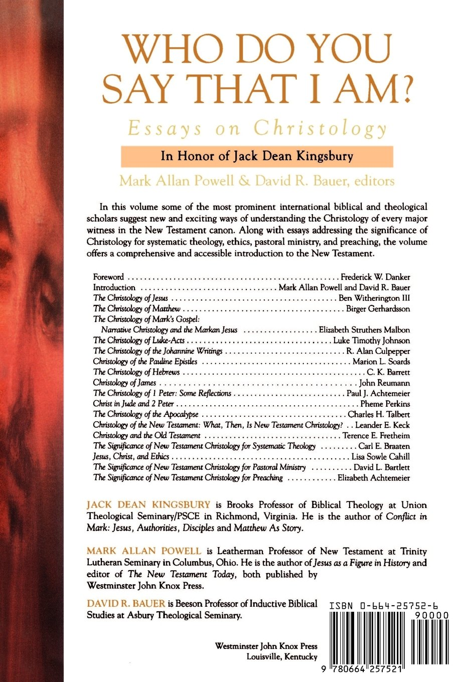 who do you say that i am essays on christology mark allan who do you say that i am essays on christology mark allan powell david r bauer 9780664257521 com books