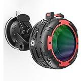 Portable Bluetooth Speaker,CREATMOR IPX8 Waterproof Bluetooth Wireless Speaker with 4 LED Light Modes, Built in Mic…