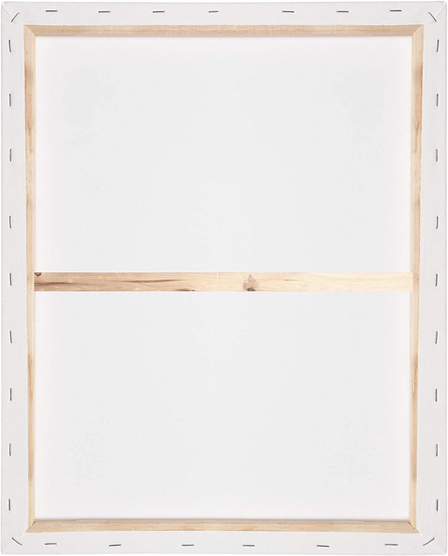 60x90cm Lienzo Blanco para Pintar con Bastidor 280g//m/² Artina Akademie
