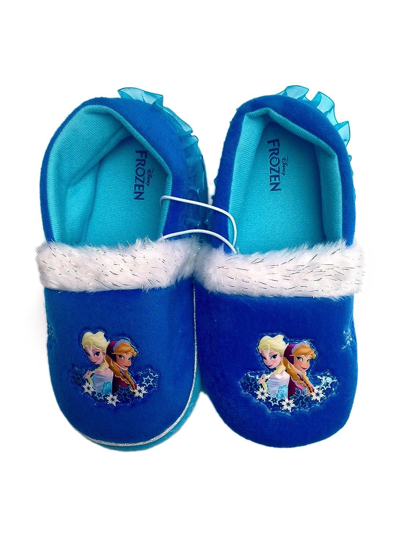 Frozen Girls Disney Elsa /& Anna Cozy Slide Slippers