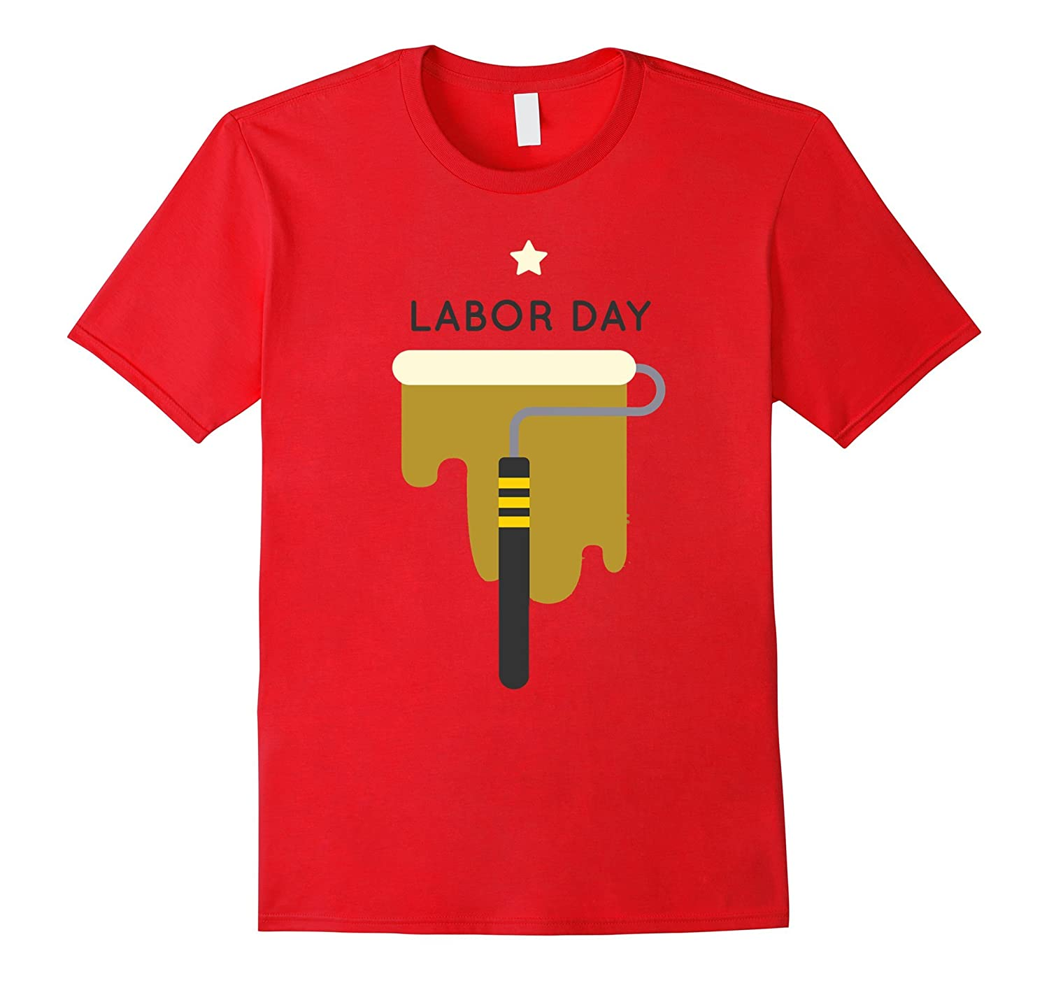Labor Day with Roll Paint T-Shirt For Workers-BN