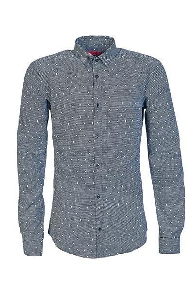 5adc046d4c6 Hugo Boss Mens Casual Shirt ERO 3 50321510 Size M Black  Hugo Boss ...