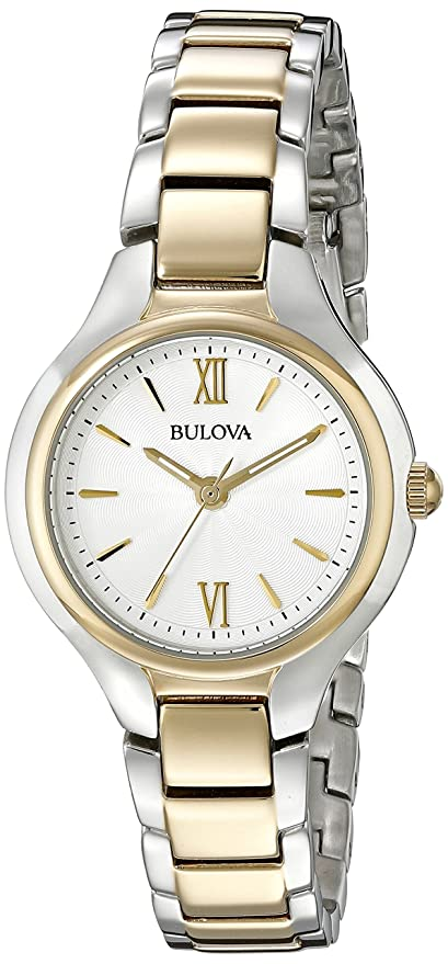 Amazon.com: Bulova Womens 98L217 Analog Display Quartz Two Tone Watch: Bulova: Watches