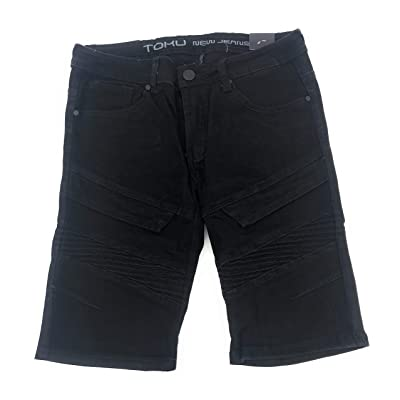 Men's Casual Denim Shorts Classic Fit Summer Fashion Short Jeans Black Size 32 at Amazon Men's Clothing store