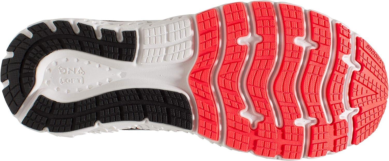 10.0 Black//Fiery Coral//Purple D Brooks Womens Glycerin 17 Running Shoe