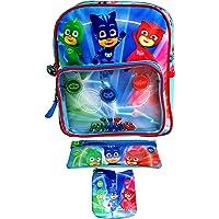 PJ Masks Kid Backpack with 2 Stationery Cases Set,School Bag,Official Licensed.