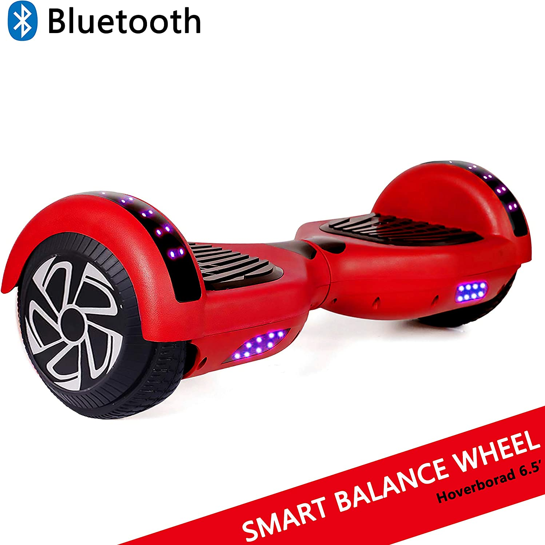 """Dragon Hoverboard con Ruedas de 6.5"""" Scooter eléctrico Self-Balancing Self Blance Scooter Monopatín eléctrico Smart Self Balance Board Dibujo en Color (Hip-Hop)"""