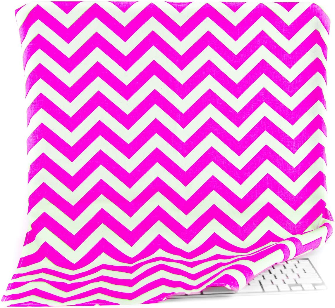 Kuzy iMac 27 inch Cover Chevron Pink Screen and Dust Protector Full Cover for Apple iMac 27 inch Ultrawide Flat Screen Desktop Computer Monitor A1862 A1419 A1312 A1316 A1407