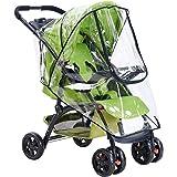 Universal Baby Stroller Rain Cover, HULISEN Waterproof Umbrella Stroller Wind Dust Shield Cover for Strollers