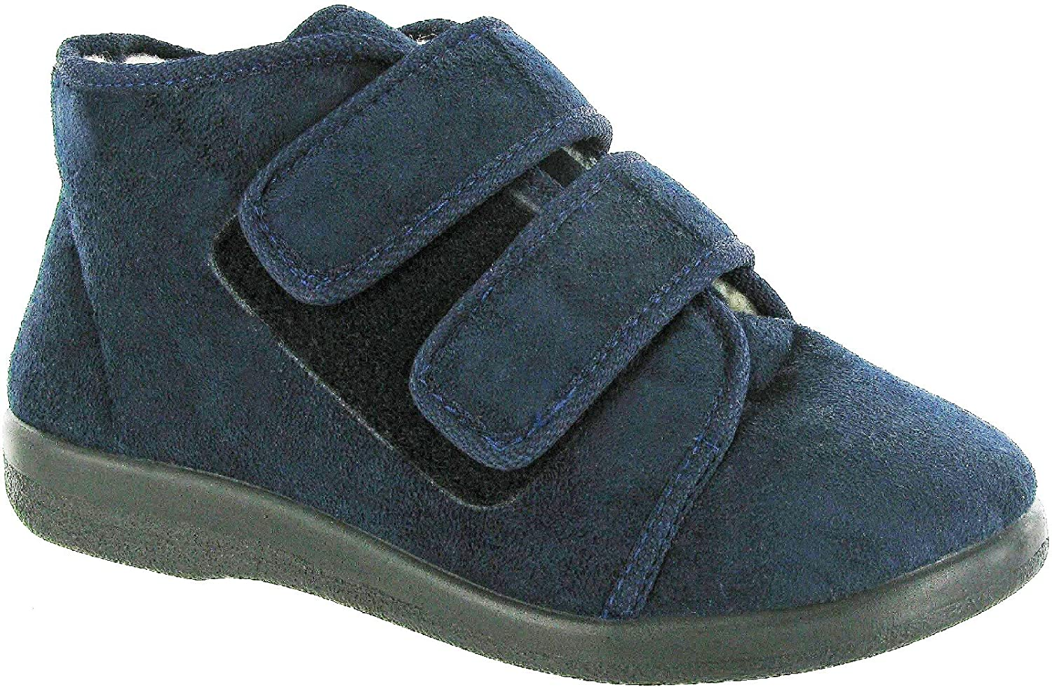 GBS Med TORBAY Unisex Medical Touch Fasten Slippers Navy