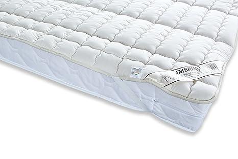 Badenia 03883211000 Merino - Funda de colchón (percal y relleno de algodón), color beige: Amazon.es: Hogar