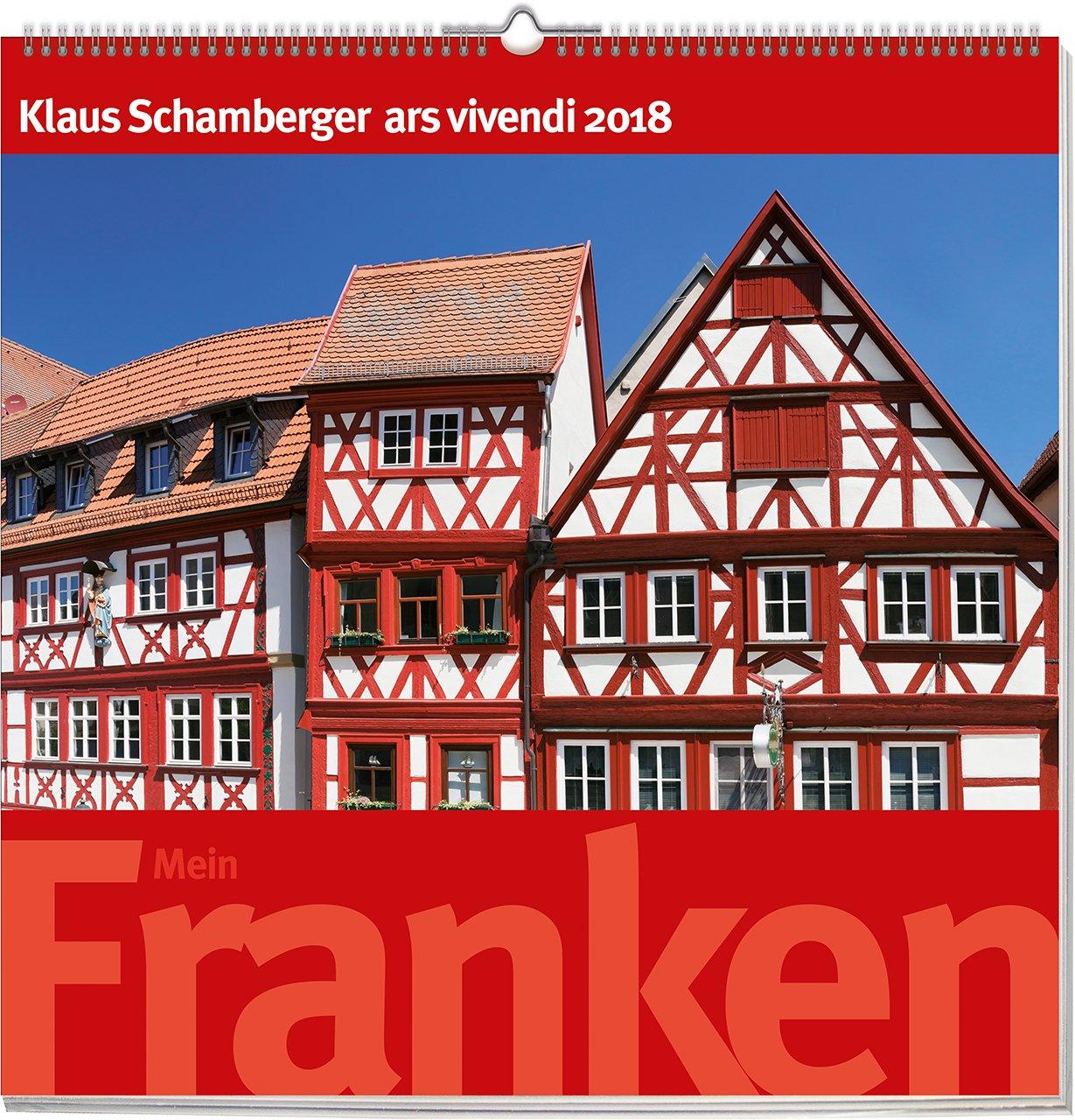 Mein Franken 2018: vierfarbiger Wandkalender. Format 50 x 50 cm