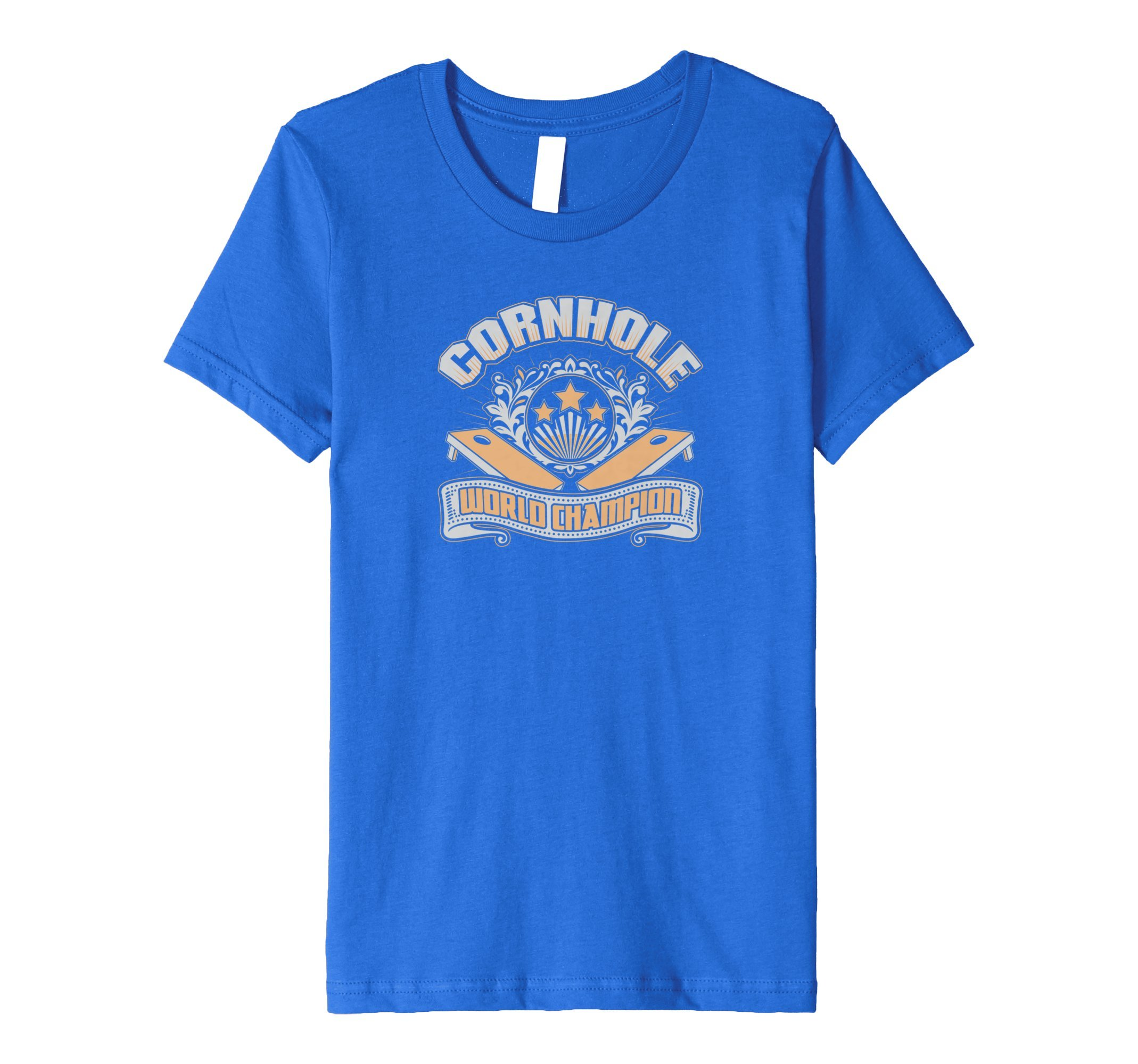 Kids Cornhole Bean Bag Toss World Champion T Shirt 10244 4 Royal Blue
