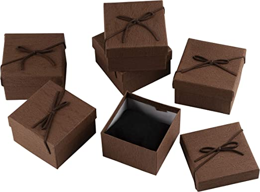 12x Jewelry Finding Gift Paper Boxes For Ring Earring Necklace Bracelet Box