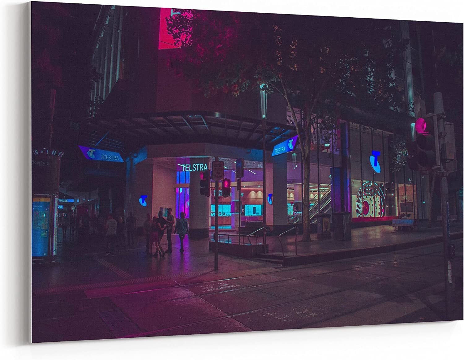 Westlake Art Cyberpunk City 12x18 Canvas Print Wall Art Canvas Stretched Gallery Wrap Modern Picture Photography Artwork Ready To Hang 12x18 Inch 5b0c 409ff Posters Prints
