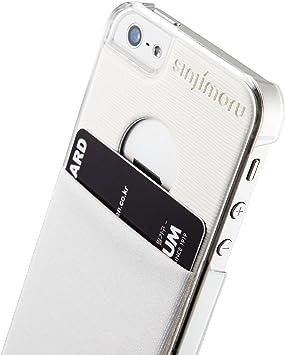 Funda para iPhone SE/iPhone 5, Sinjimoru Funda iPhone SE / 5 / 5s / 5c Transparente con Soporte para Tarjeta. Estuche Sinji Pouch para iPhone 5, Estuche Transparente y Estuche Blanco.: Amazon.es: Electrónica