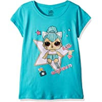 L.O.L. Surprise! Playera de Manga Corta para niñas The Glitterati Kitty Queen