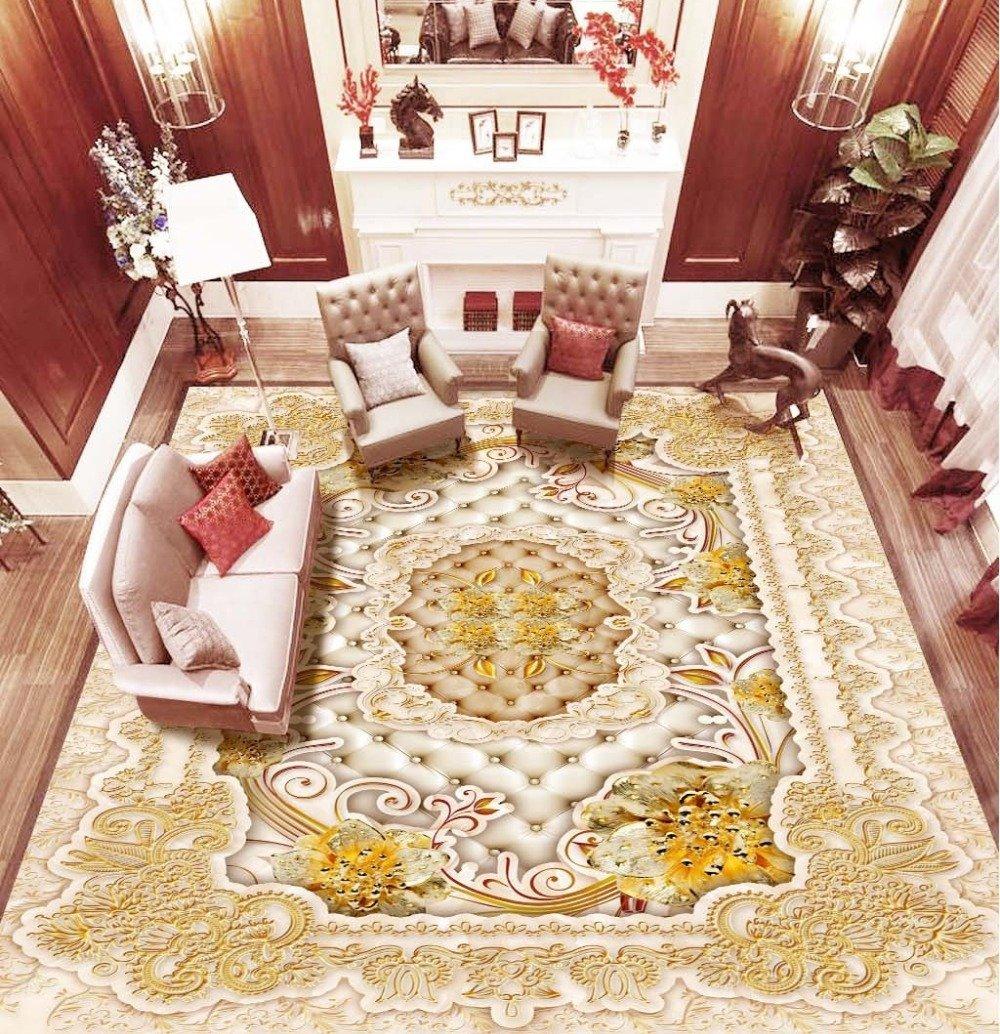 ZLJTYN 270cmX180cm 3D Floor Wallpaper European-style Luxury Modern Gold 3D Wallpaper For Ceiling Custom Size Wallpaper by ZLJTYN (Image #1)