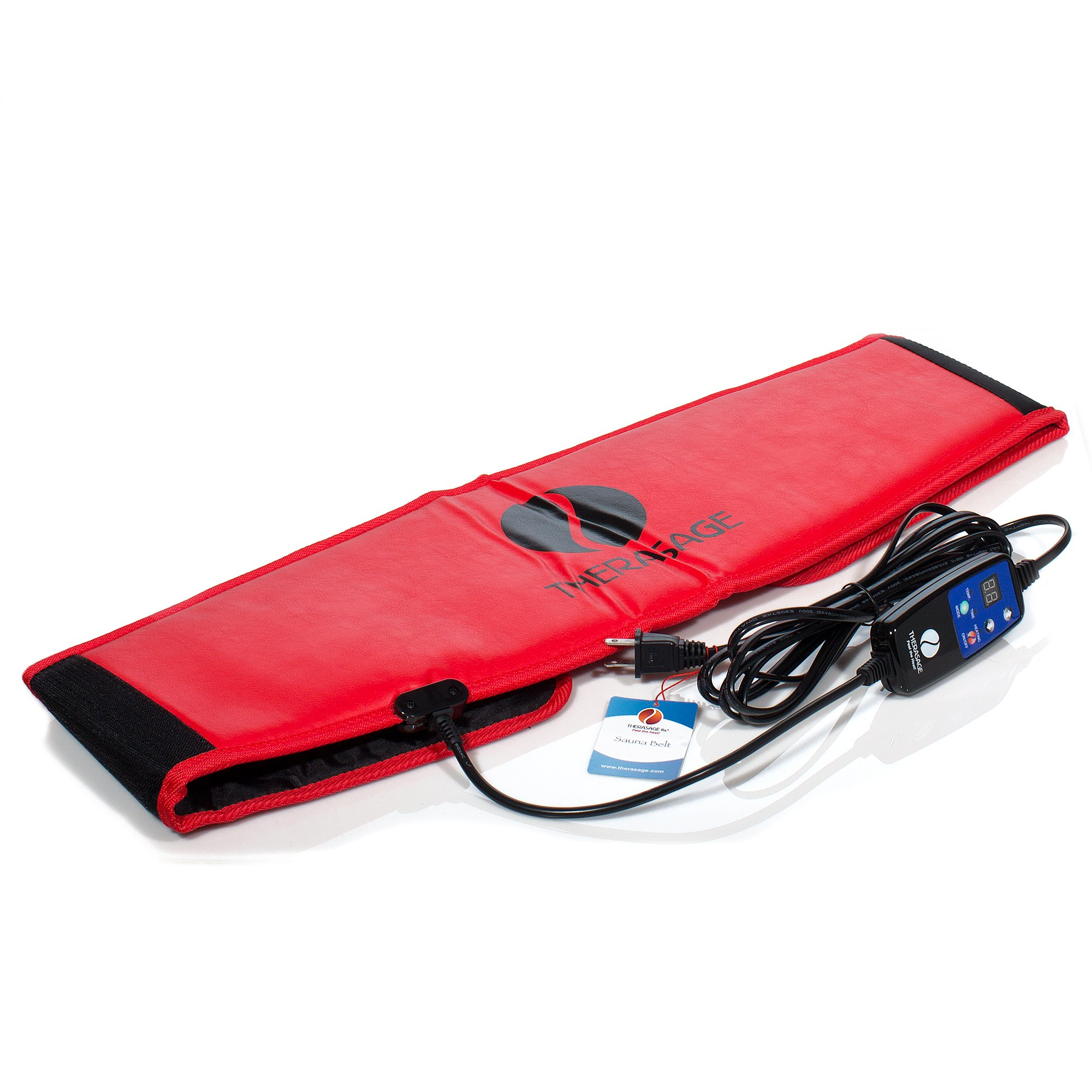 Therasage Far Infrared Muscle and Joint Tension Relief Portable Sauna Belt - Red